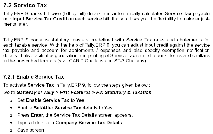 Service Tax in Tally ERP 9, ERP, Accounting Software & Audit tool
